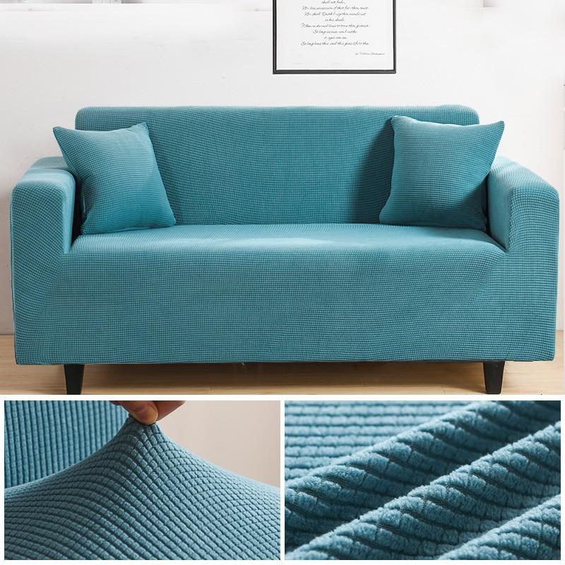 Velvet Sofa Covers for Living Room Solid Sectional Sofa Cover Elastic Couch Cover Sofa Towel Home Decor Fundas Sofa Slipover Sofa Cover    - AliExpress