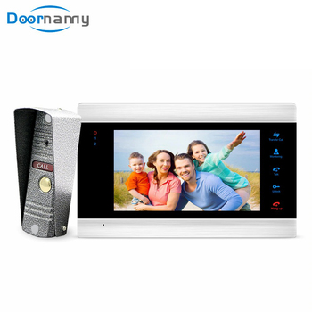 Doornanny 7Inch Video Intercom For Home Apartment NightVision Video Doorbell Monitor Doorphone Set Calling Access Control System smartyiba rfid access control camera intercom wired 7inch monitor video intercom door phone doorbell system for 8 apartment