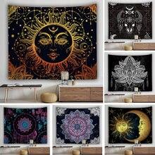 Decoração da parede sol lua decoração abstrata tapeçaria mandala cobertor de parede pendurado uma peça montado barato boemio