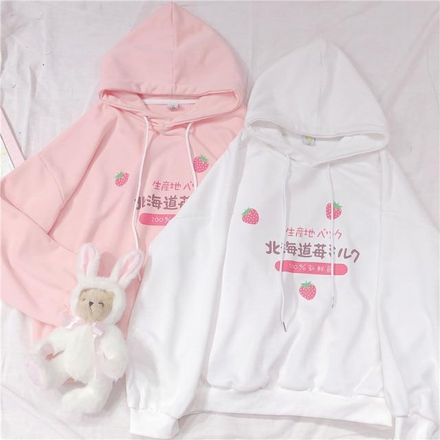 Kawaii Strawberry Harajuku Hoodie