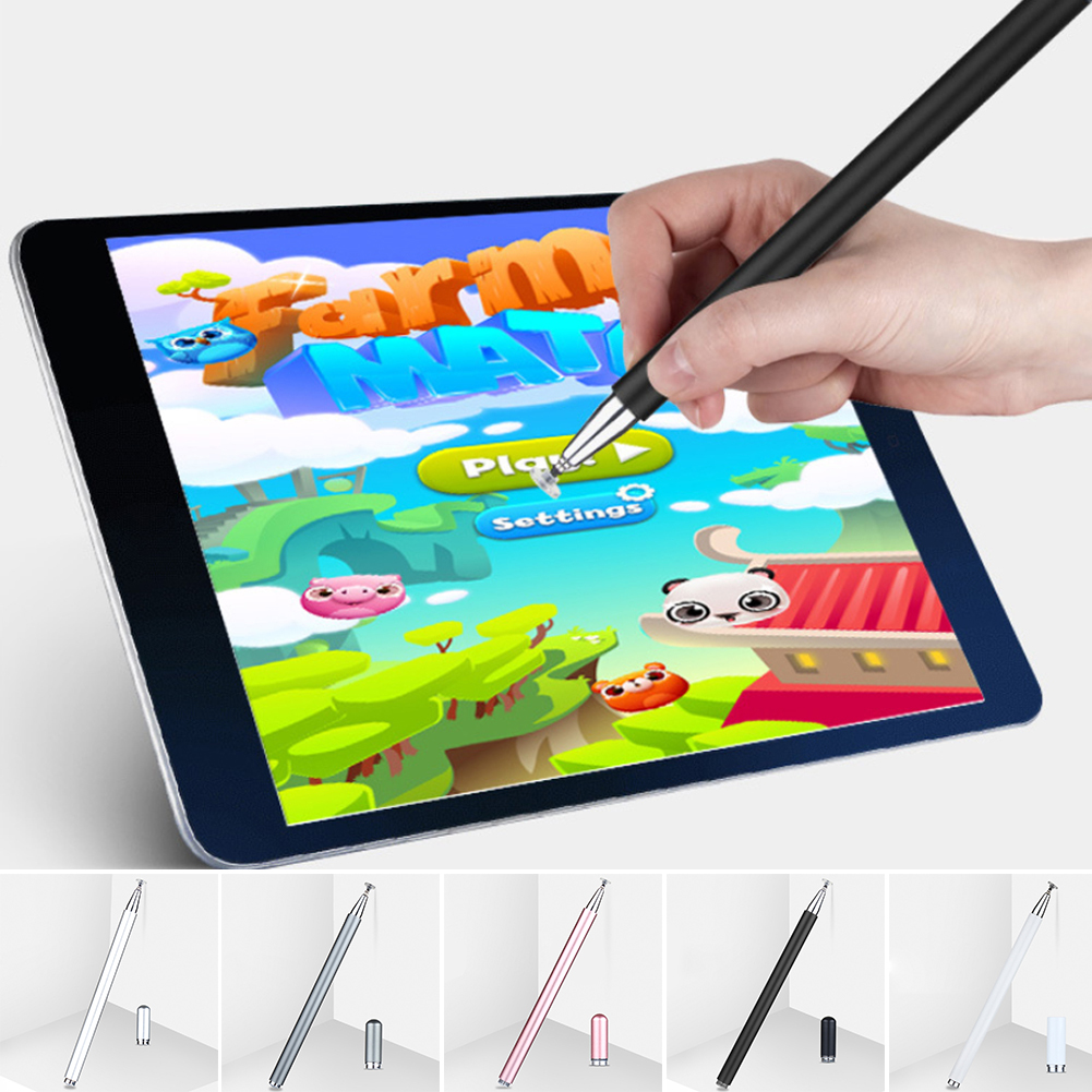 Capacitive Writing Round Painting Touch Screen Generic Pencil Tablets Office Sensitive Metal Stylus Pen With Magnetic Home Smart