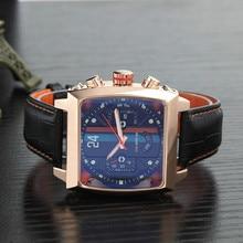 Top Brand Luxury Watch Men tonneau Automatic Tourbillon
