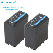Battery NP-F990 NP F990 NPF990 F930 F950 F960 F970 8800MAH for Sony Camcorder HXR-MC1500C NEX-EA50 HVR-Z7C NX3 5 LED Video Light