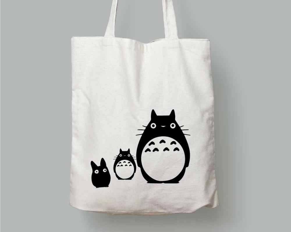 Canvas Tote With Cute Dog Or Cat,Canvas Bag,Funny Message On Canvas Bag,Canvas Tote
