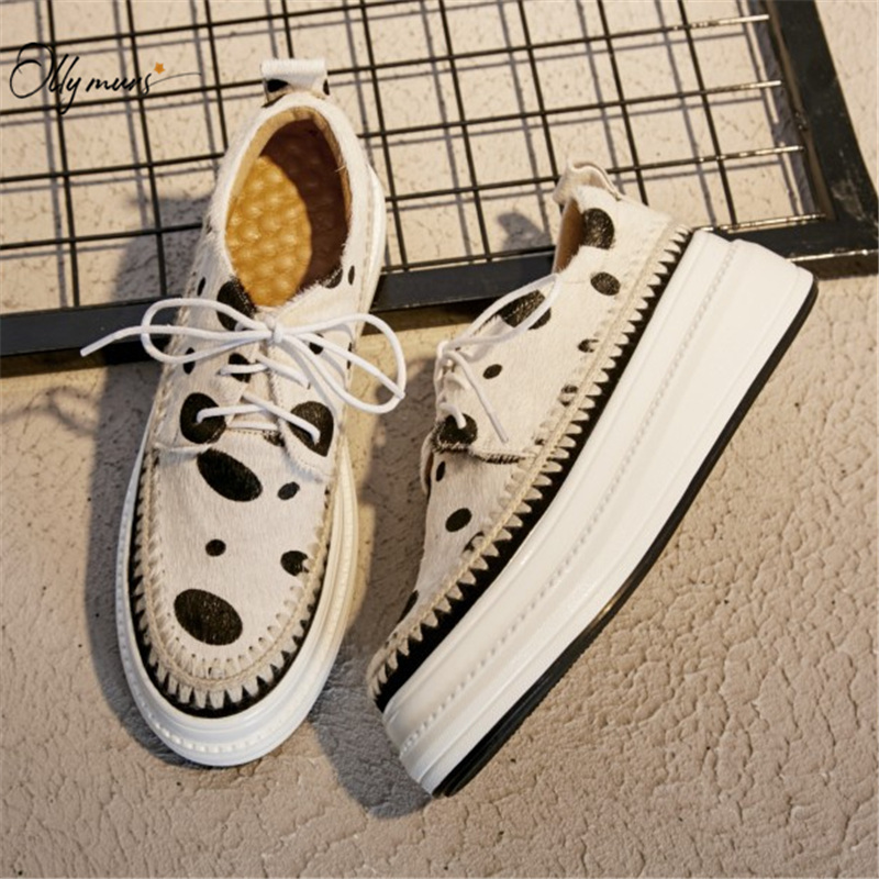 OllyMurs Fashion Style Spring Casual White Women Flat Shoes Cross Tied Shallow Mouth Platform Women Sneakers Flat Shoes Woman