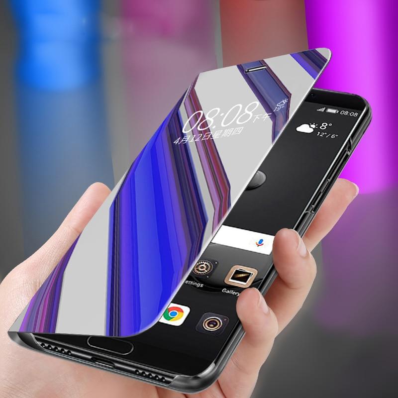 View Smart Shockproof Flip Case For LG K41S K51S Q60 G8 V50 K50 K50S V60 K61 Flip Mirror Cover Phone Cases Full Cover For LG V30