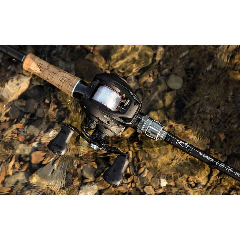 LINNHUE BF2000 Baitcasting moulinet haute vitesse 7.2: 1 rapport de vitesse 12 + 1BB système de freinage magnétique eau douce/eau salée moulinet de pêche ultraléger