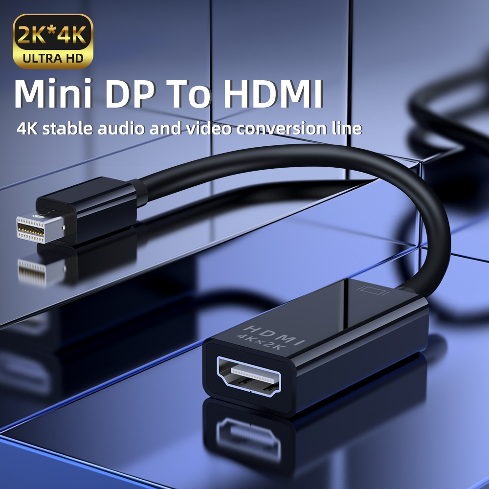 1080P HD Mini DP to HDMI Adapter Cable For MacBook Air 13 iMac Chromebook Laptop Mini Displayport to HDMI Cable HDMI Converter