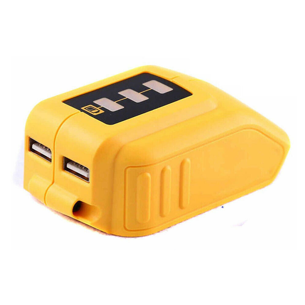 12V-18V Dual USB Port Battery Adapter Charger Built-In Smart Chip Li-Ion Battery Charger With Indicator For Dewalt <font><b>DCB090</b></font> image