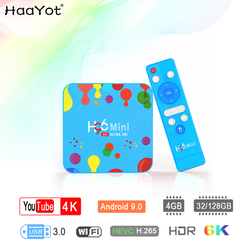 HAAYOT H96 MINI Android 9 0 Smart TV BOX Allwinner H6 Quad Core 4G 128G 6K