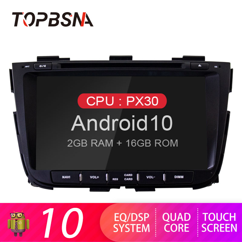 TOPBSNA Car multimedia Player Android 10 for kia Sorento 2013 2014 GPS Navigation WIFI Radio Stereo Automotive RDS Tape recorder image