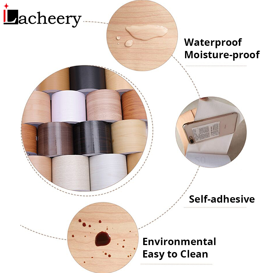 5M/10M PVC Waterproof Waist Line Wood Marble Self Adhesive Skirting Line Wallpaper Living Room Decor Vinyl Border Wall Stickers 6