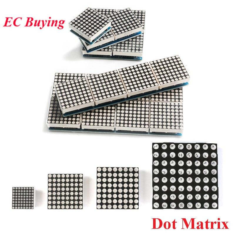 MAX7219 8*8 Dot Matrix LED Display Module 2/4/8 in one Digital Tube Microcontroller Control For Arduino Electronic DIY Kit