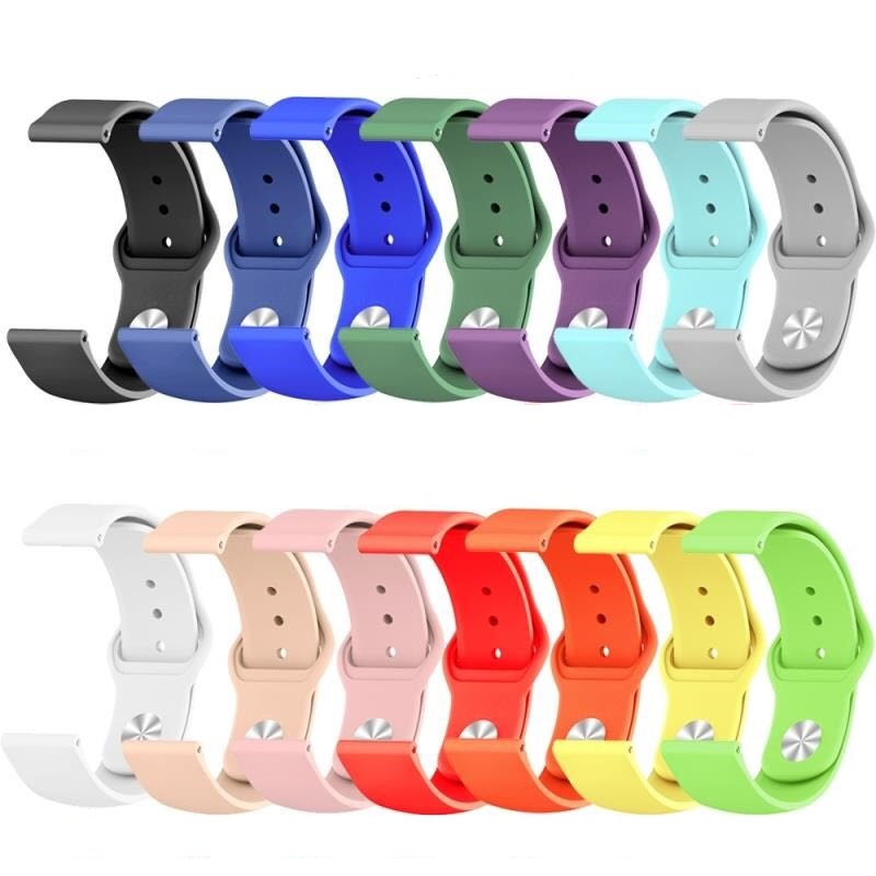 20mm 22mm Colorful Silicone Watchband For Samsung Galaxy Watch Active 42mm 46mm Gear S2 S3 Strap Band Amazfit Bip 42/46mm Strap