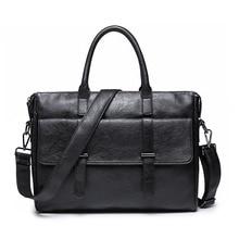 Men's Bag Leather Briefcase for Men