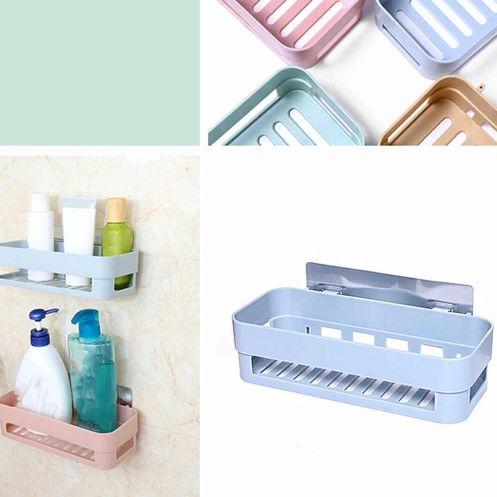 PP Kunststoff Praktische Home Küche Badezimmer Korb Regal Wand Montiert Anti-Slip Rack-küchenzubehör Ständer Halter Rack
