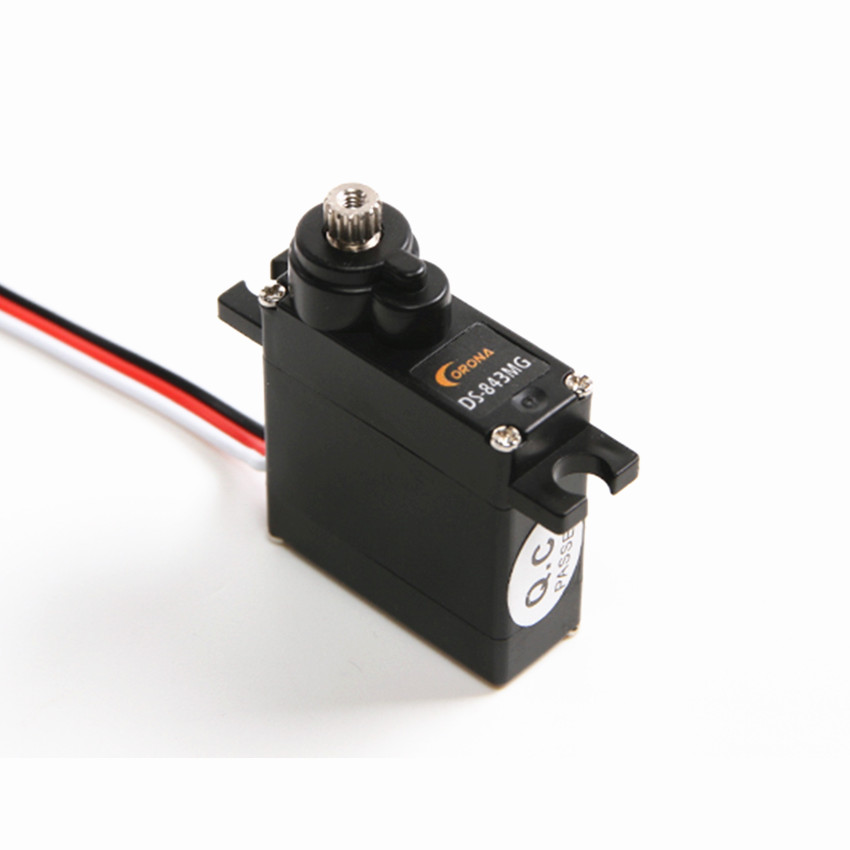 Corona Digital Metal Mini High Torque Robot Servo DS843MG Fixed-wing drone Mini Servo RC Airplane Aircraft Spare Parts image