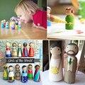 10 шт./компл. твердые деревянные люди, незаконченные деревянные люди для ручной живописи, куклы, поделки, граффити, дети, DIY живопись, подарок