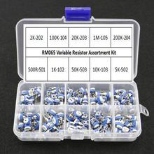 Potentiometer Trimpot Variable Resistor RM065 Assortment-Kit Horizontal 100pcs/Box Values