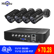 Hiseeu Cctv-Camera-System HDD Surveillance-System Outdoor Home-Video 4CH Dvr-Kit 720P/1080P
