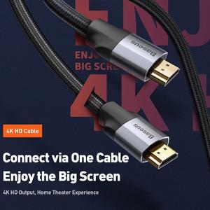 Image 2 - Baseus HDMI כבל 4K זכר לזכר HDMI 2.0 כבל עבור PS4 מקרן טלוויזיה אודיו וידאו HDMI חוט כבל דיגיטלי ספליטר מתג 5m 3m