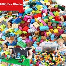 Blocs de construction pour enfants, 1000 pièces, ville, bricolage créatif, briques compatibles inglys, plaque de Base en vrac, jouet éducatif