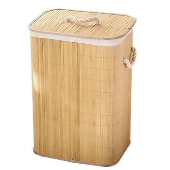 Foldable Dirty Laundry Basket Organizer Bamboo Home Laundry Hamper Storage Basket Organizer Clothes Container Collapsible Box laundry foldable square basket pop up hamper clothes storage mesh hamper washing clothes laundry basket bag kid toy organizer