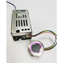 Placa de controle K215 V1.3 + r503, função de relé aberta normalmente, placa de controle de impressão digital para motocicleta, porta, fechadura, controle de acesso