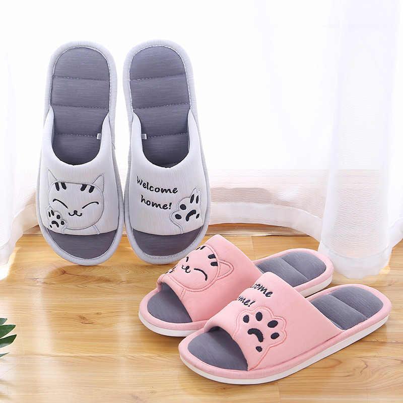 รองเท้าแตะนุ่มแมวฤดูหนาวรองเท้าแตะผ้าฝ้าย,แฟชั่นรองเท้าผู้หญิงสบายรองเท้า, ในร่มคู่สไตล์