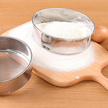 Kuchnia z drobnymi oczkami sito do mąki profesjonalne okrągłe sito do przesiewania mąki ze stali nierdzewnej sitko przesiewacze najlepsze na pieczenie w kuchni herbata gorąca tanie i dobre opinie CN (pochodzenie) Ekologiczne Na stanie Colanders i filtry STAINLESS STEEL