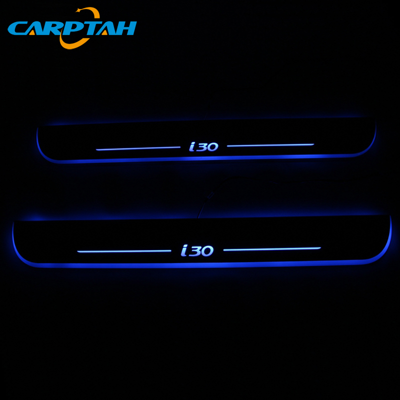 SNCN Trim Pedal LED Car Light Door Sill Scuff Plate Pathway Dynamic Streamer Welcome Lamp For Hyundai I30 2015 2016 2017 2018(China)