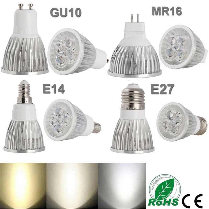 LED Lampada 9W 12W 15W GU10 MR16 E27 E14 หลอดไฟ LED 85-265V Led Spotlight warm/Neutral/เย็นสีขาวหลอดไฟ LED 110V 220V สำหรับ
