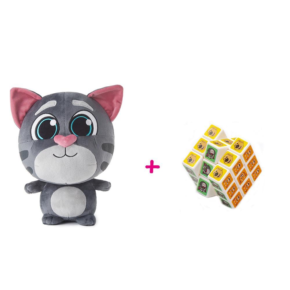 Plush Tom + Magic Cube 3×3×3 Set Stuffed  Soft Dolls Plush Animal Christmas Birthday Gift For Kids