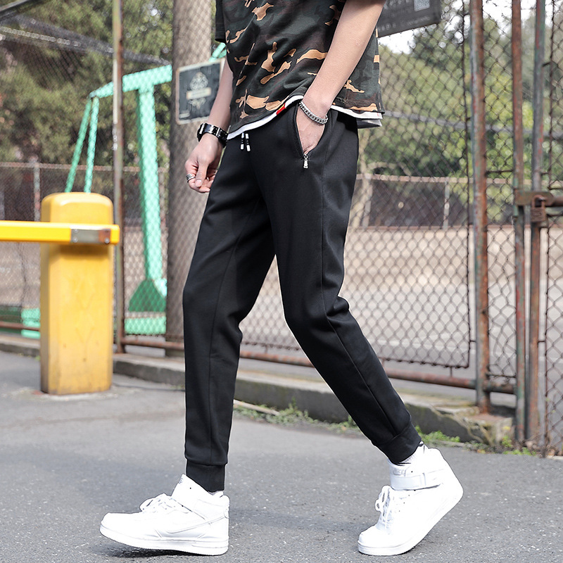 MEN'S Casual Pants New Style Athletic Pants Slim Fit Teenager Korean-style Casual Skinny Pants MEN'S Trousers Large Size Pants