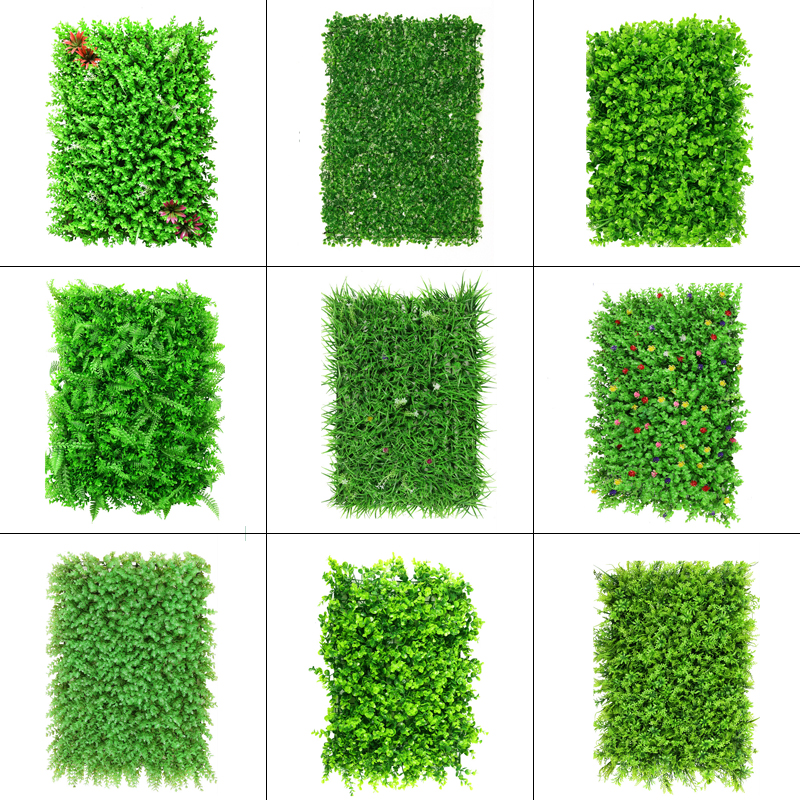 40x60cm Artificial Green Plant Lawns Carpet for Home Garden Wall Landscaping Green Plastic Lawn Door Shop Backdrop Image Grass-0