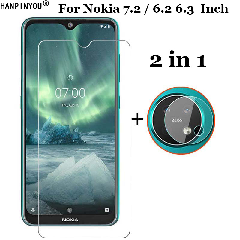 2-in-1 Front Tempered Glass for <font><b>Nokia</b></font> <font><b>7.2</b></font> 6.3