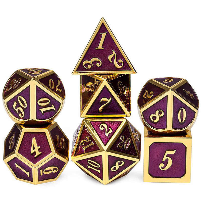 フルメタルサイコロセット 7 ピースをダンジョンズ & ドラゴンズ dnd サイコロパスファインダー rpg 多面体 d & d はテーブルゲーム