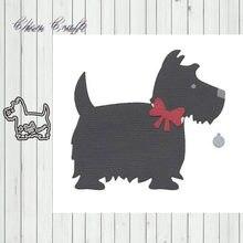 Металлический трафарет с изображением милой собаки альбом для