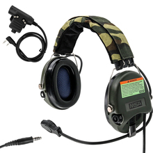 купить Tactical Softair Sordin Headset Noise Reduction Earphone Hunting Airsoft Headphone With PTT U94 Kenwood 2 Pin Plug по цене 5796.68 рублей