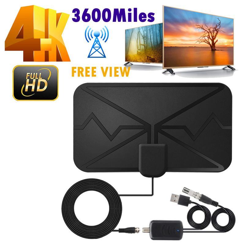 4K цифровая антенна ТВ в помещении с усилителем сигнала 3600 миль DVB-T2 HD ТВ антенна HD Цифровая антенна HD TV PC мягкий Материал