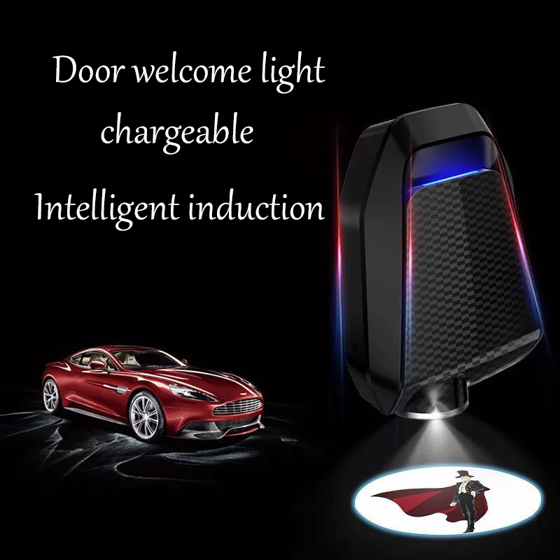 2PCS New Arrival M2 Wireless Car Door Welcome Light LED Projector Logo Light For Car Accessories Model Charging Mode Universal