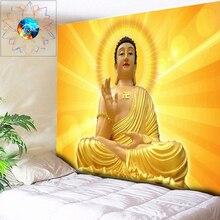 Золотой Будда чакра индийские гобелены настенный гобелен с мандалой Psychedelic Многофункциональный хиппи настенный гобелен на заказ Бохо домашний декор