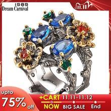 دريم كرنفال 1989 خاتم نسائي رائع ماركة إنفينيتي لون الحجر مجوهرات عتيقة أنيقة موضة الذكرى زوجة هدية يجب أن يكون WA11672