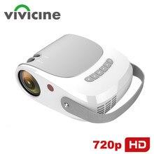 Видеопроектор Vivicine 2021 новейший 720p HD для домашнего кинотеатра, HDMI USB PC 1080p игровой кинопроектор проектор с поддержкой AC3
