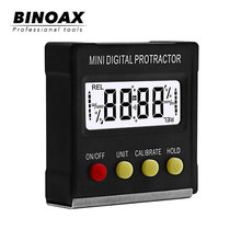 BINOAX 360 Degree Mini Digital Protractor Inclinometer Electronic Level Box Magnetic Base Measuring Tools