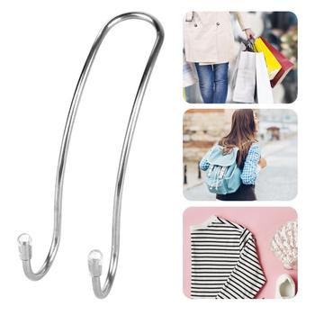 Metal Auto Car Seat Headrest Hanger Bag Hook Holder for Bag Purse Cloth Grocery Storage Auto Fastener Clip Interior Accessories image