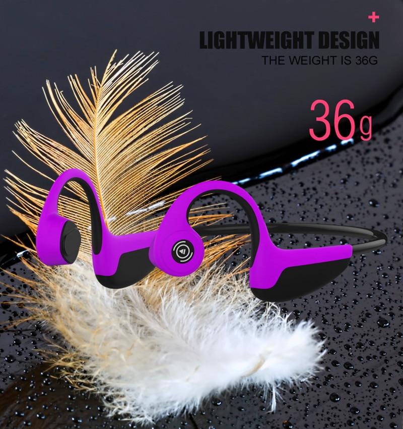Беспроводные наушники Z8 с костной проводимостью, Bluetooth 5,0, умные наушники, спортивные наушники с ушным крючком, гарнитура с микрофоном