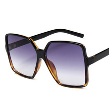 Higody Fashion Women Oversize Sunglasses Gradient Plastic Brand Designer Female Sun Glasses UV400 lentes de sol mujer cheap higodoy CN(Origin) Cat Eye Adult NONE Photochromic 57mm Polycarbonate 1932 Eyewear 60mm