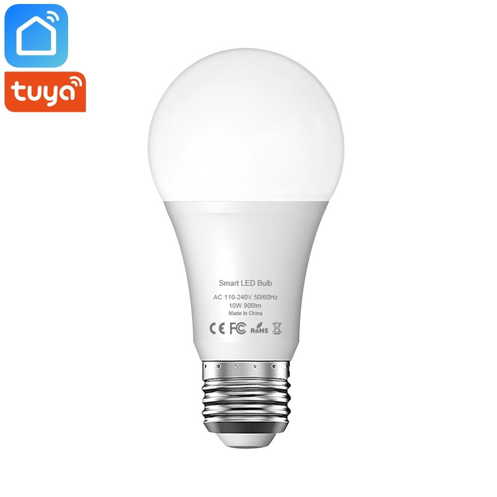 Tuya Smart Life Wifi Smart Led Light Bulb Lamp E27 10W 900Lm 6500K Cold White Light Works With Alexa Google Home IFTTT