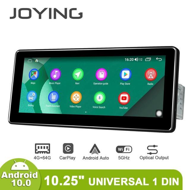 أندرويد 10.0 واحد الدين 10.25 بوصة 1280*480 IPS العالمي راديو السيارة لاعب 4 جيجابايت RAM 64 جيجابايت ROM RDS BT HDsupport 4 جرام/كاميرا احتياطية